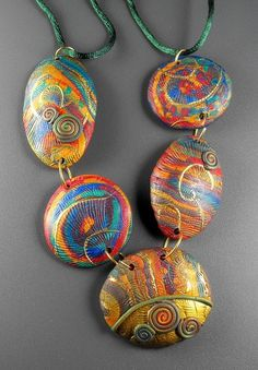 Polymer Clay Necklace by MargitB., via Flickr by melva