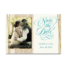 Elegant Lace Save the Date