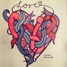 Un corazón con el mismo estilacho.     ~love~
