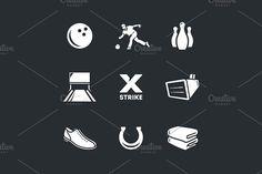 Bowling . Sport Icons. $3.00