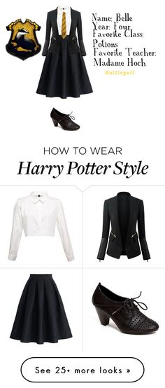"""""""Hufflepuff"""" by berryco on Polyvore featuring French Blu, Chicwish and Chicsense"""