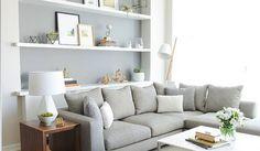 Kleines Wohnzimmer einrichten: Helle Farben bevorzugen