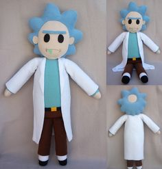 Guys... I really love this show. If you haven't seen Rick and Morty yet, do it. Just-just-just just do it. So anyway, loving the show so much, I naturally made a Rick plush. I really like this plus...