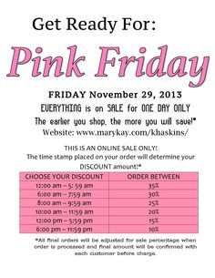 Pink Friday Sale