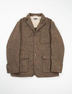 Brown 13oz Wool Flannel Baker Jacket