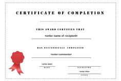 This computer literacy achievement certificate features the back of 19 certificate of completion templates yelopaper Choice Image