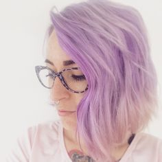 Shorthair style pastel hair color lavander hair septum cliker joico color intensity - Pastelltone wand ...