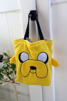 Adventure Time Jake hand bag by sappymoosetree on Etsy, $35.00