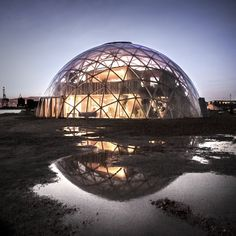 Completed in 2016 in Aarhus, Denmark. Images by Atelier Kristoffer Tejlgaard, Helle Arensbak and Jonathan Bisagni. Dome of Visions 3.0 is the third dome in a series of experiments. DoV is an experiment that aims to create knowledge about how it affects our...