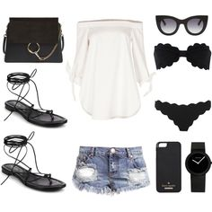 All I wanna wear this summer by fashionlandscape on Polyvore featuring Mode, TIBI, Marysia Swim, Michael Kors, Chloé, Kate Spade, Thierry Lasry and One Teaspoon