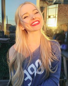 Hi everybody! I'm dove Cameron, 15 and single! I'm an actress, singer and fashion designer. I'm goofy and nerdy, and looking for someone who will make me laugh till my stomach starts hurting!