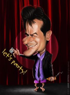 CHARLIE SHEEN ~ www.facebook.com/groups/caricaturistas'_____________________________ Reposted by Dr. Veronica Lee, DNP (Depew/Buffalo, NY, US) Charlie Sheen, Cartoon Faces, Funny Faces, Cartoon Characters, Funny Caricatures, Celebrity Caricatures, Caricature Drawing, Pencil Portrait, Skull Art