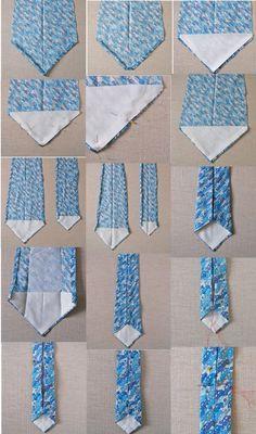 Hacer corbatas es muy fácil, ¡solo sigue este paso a paso! #Sew #Tie #corbata