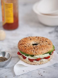 Microwave Egg And Vegetable Breakfast Sandwich