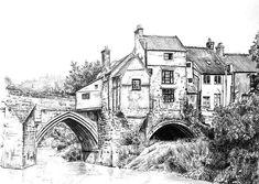 "Natalija Stojanovic on Instagram: ""Elvet Bridge, Durham, biro pen drawing #art #drawing #biro #biropen #biropendrawing #elvetbridge #durham"" Biro, Durham, Drawing Art, Bridges, Barcelona Cathedral, Drawings, Building, Travel, Instagram"