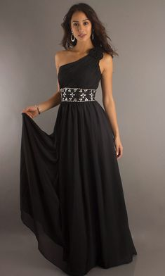 2f38f9212a Cheap Prom   Evening   Party   Bridesmaid Dresses Online. Black One  Shoulder DressOne ...
