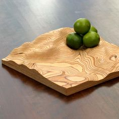 The Fluid Earth Bowl - you can customize it to the topographical map of the area of your choice. It's actually a 3D map!
