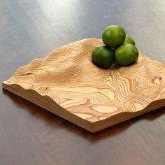 Plywood Artwork bowl