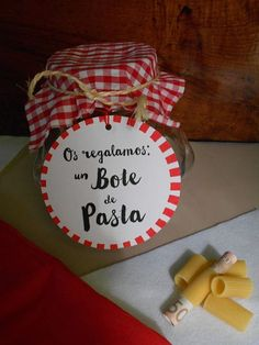 Bote de Pasta  Ideas para Regalar - Boda  Wedding Ideas - Money