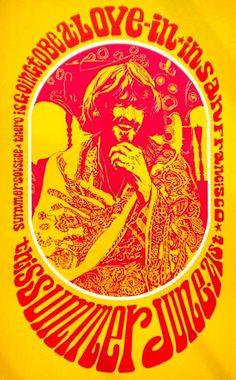 Psychedelia - vintage rock poster