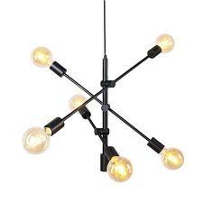 furn.nl product qazqa-sydney-6-hanglamp-zwart