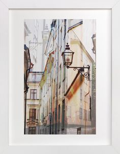 Narrow streets of open Gamla Stan by Bethania Lima at minted.com