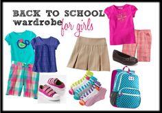 Back to School Wardrobe for Girls FREE Printable Checklist included! {writtenreality.com} #backtoschool #schoolclothes