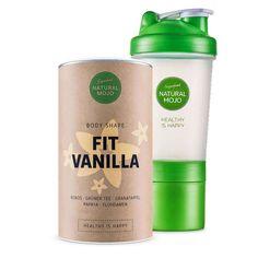 • Idealny zestaw: Fit Vanilla i shaker białkowy • Białko w proszku o smaku waniliowym • Shaker ułatwi ci odpowiednie przyrządzenie napoju Zawartość Fit Vani
