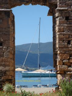 Discover other beaches of Poros Island . or go on a day sailing around the island Yoga Holidays, Beach Walk, Volcano, Athens, Mountain Biking, Wind Turbine, Beaches, Sailing, To Go