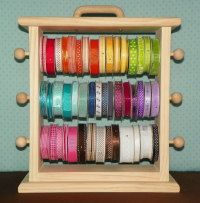 The   Original Ribbon Storage Rack  by creativevisions207 on Etsy, $90.00