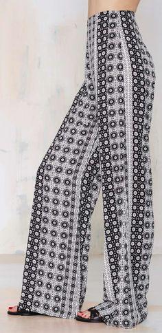 5c6c9cfd7aa2 After Party Vintage Kaleidoscope Palazzo Pant Maxi Pants, Palazzo Pants,  Blouse Dress, Future