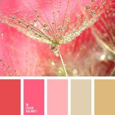 beige y rosado, color dorado, color guinda claro, color oro, color oro viejo, dorado y rosado, rojo y rosado, rosado cálido, rosado oscuro, rosado suave, rosado y beige, rosado y dorado, rosado y rojo, tonos dorados, tonos rosados, tonos rosados y dorados.