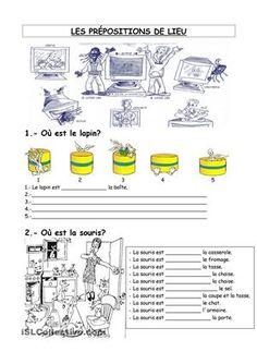 exercices sur les prépositions de lieu - Fiches FLE