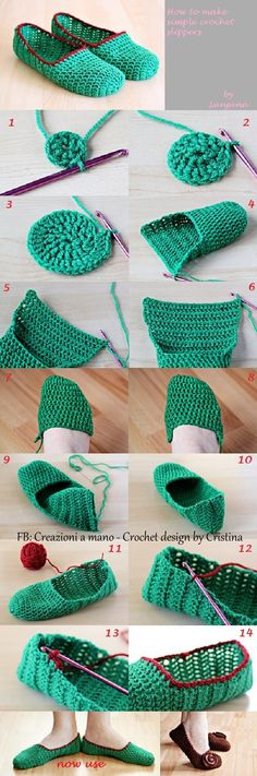 Love making crochet slippers - they're quick, easy and make perfect gifts! Sie Hausschuhe, wie man macht Wonderful DIY Crochet Slippers and Mini Heart with Free Pattern Diy Crochet Slippers, Crochet Diy, Love Crochet, Crochet Crafts, Crochet Projects, Tutorial Crochet, Knitting Projects, Felted Slippers, Beautiful Crochet