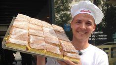 Die Dresdner Eierschecke ist Kult! Bäckermeister Michael Wippler aus Dresden verrät uns exklusiv sein Rezept zum Nachbacken und zeigt uns Schritt für Schritt, wie der Klassiker entsteht. Guten Appetit! Cake & Co, Coffee Cake, Zucchini, Catering, Pork, Food And Drink, Bread, Cheese, Baking