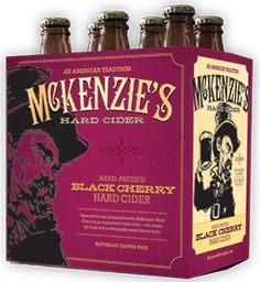 """McKenzie's - Black Cherry Hard Cider """"The Juice Reserved for the darkest of hearts, McKenzie's Black Cherry is an inspiration to hard cider – rich amber, full body with a refreshingly sweet cherry finish."""" 