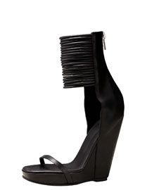 Rick Owens Ankle-Wrap Wedge Sandal