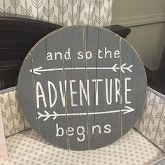 and so the adventure begins - wall art for nurseries