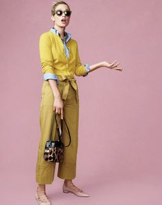 The J.Crew women's cropped Italian chino in safari gold. Because why not? To pre-order, call 800 261 7422 or email verypersonalstylist@jcrew.com.
