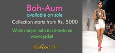 @Lakme India Fashion week.  The Boh-Aum collection is on #sale.
