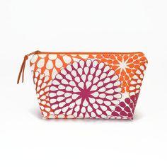 Makeup zipper bag Floral Makeup bag Zipper pouch by NoLongerBlue