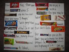 Farewell card candy board | Stuff to Try | Pinterest ...