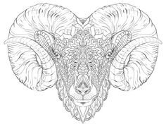 Ram Head (Tattoo Design) on Behance