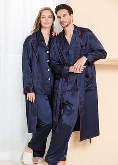 Satin Pyjama TieNew Homme Kimono en Soie Robe de Chambre Peignoir de Bain,V/êtement de Nuit L-XXL Multicolor /& Fashion Styles