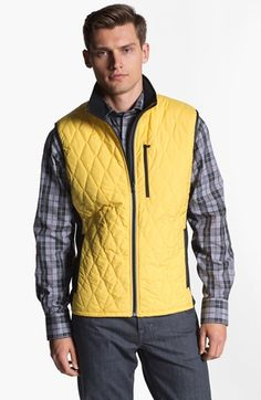 $195, Yellow Quilted Gilet: Victorinox Swiss Army Glares Quilted Vest Xx Large. Sold by Nordstrom. Click for more info: https://lookastic.com/men/shop_items/91884/redirect