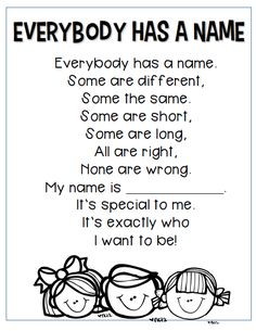 poetry for kindergarten Kindergarten Poetry, Kindergarten Names, Kindergarten First Day, Kindergarten Classroom, Kindergarten Graduation, Preschool Poems, All About Me Preschool, Kids Poems, 1st Day Of School