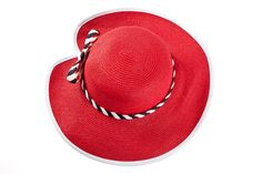 Red hat  Custom hats  Straw hat for women  di LeopardValley