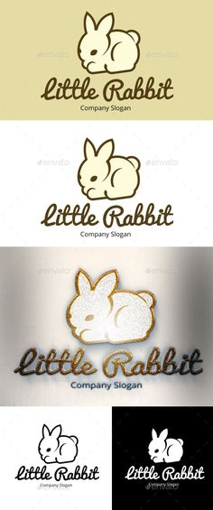 Little Rabbit Logo by pixelscube Logo of Little Rabbit. It can be used for many kind of project. Full vectors, this logo can be easily resize and you can change w