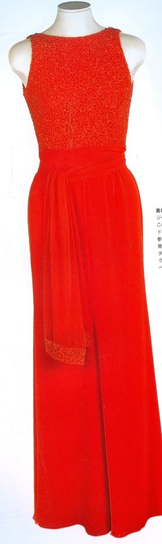 Red Jacques Azagury Gown June 1997 USA
