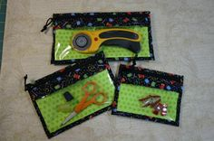Tutorial to make Atkinson Designs zippered pockets, fast fun and easy! kits available
